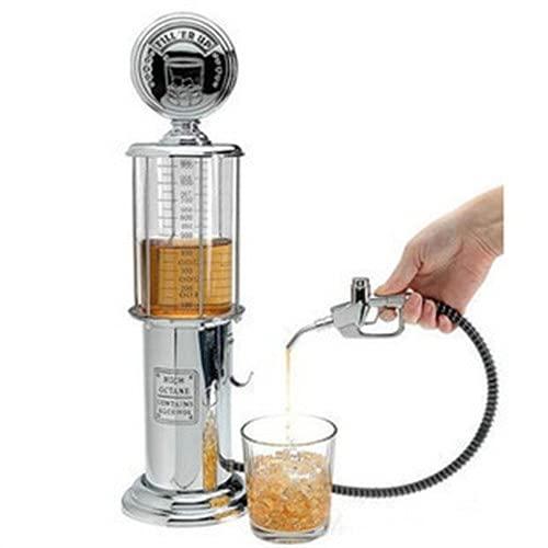 ZJJX Liquor Beer Pump Dispensador de cerveza, recipiente para beber, bomba, mini dispensador de cerveza, diseño transparente para cerveza, bebida, agua, zumo