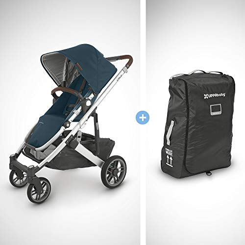 Learn More About UPPAbaby Cruz V2 Stroller - Finn (Deep Sea/Silver/Chestnut Leather) +Travelbag for ...