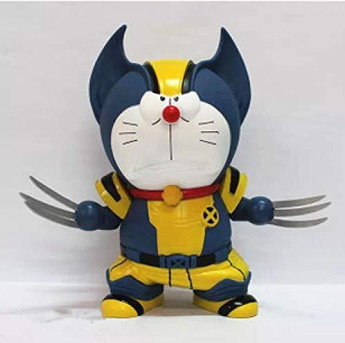 Zqcay Modelo de Personaje Cos Doraemon Doraemon Doll Model PVC Material Animedecoracion Adornos Coleccionables Juguete Animaciones Modelo De Personaje
