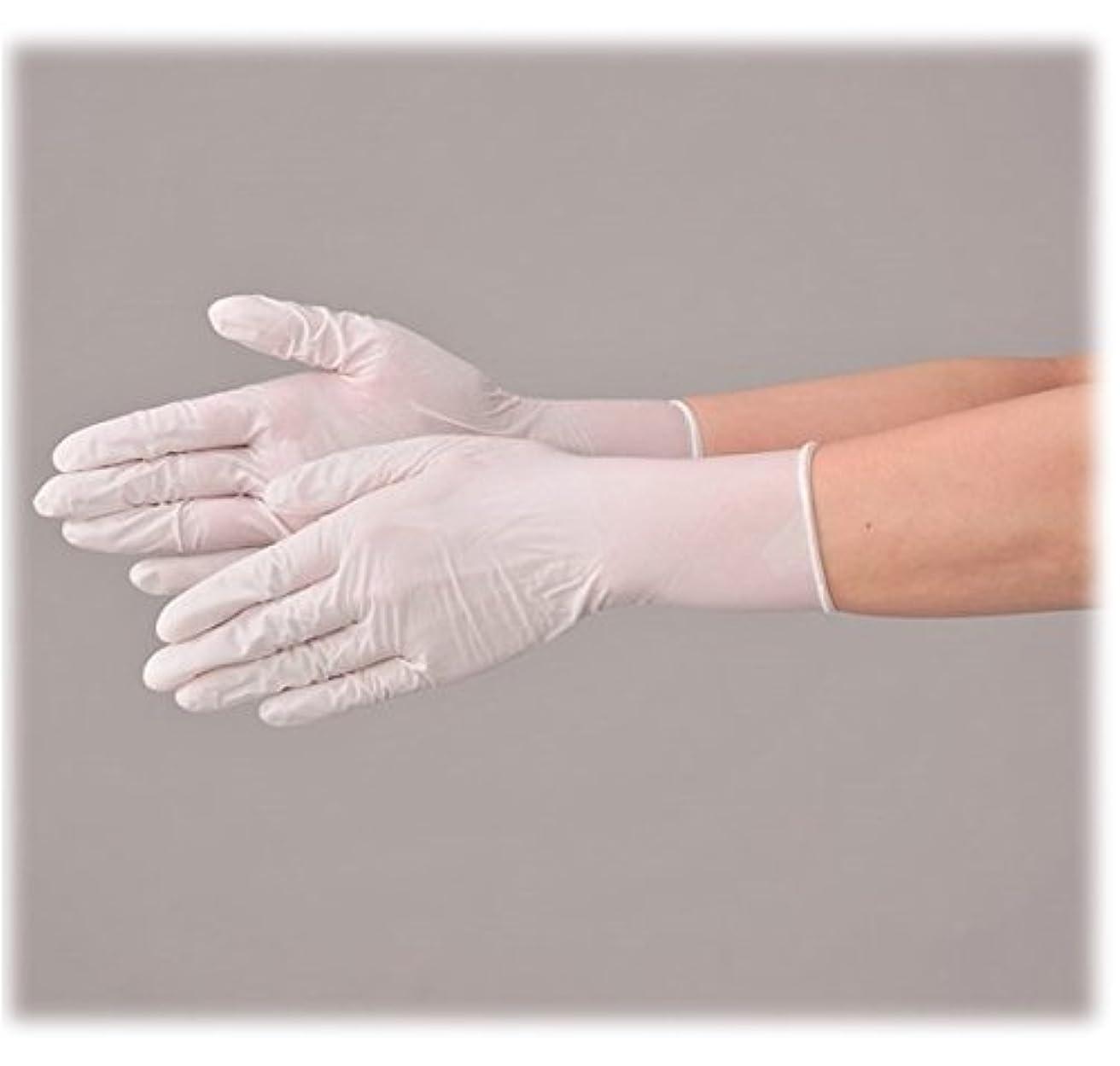 栄光の理由ミント使い捨て 手袋 エブノ 574 ニトリルNEOプラス ホワイト Mサイズ パウダーフリー 2ケース(100枚×40箱)