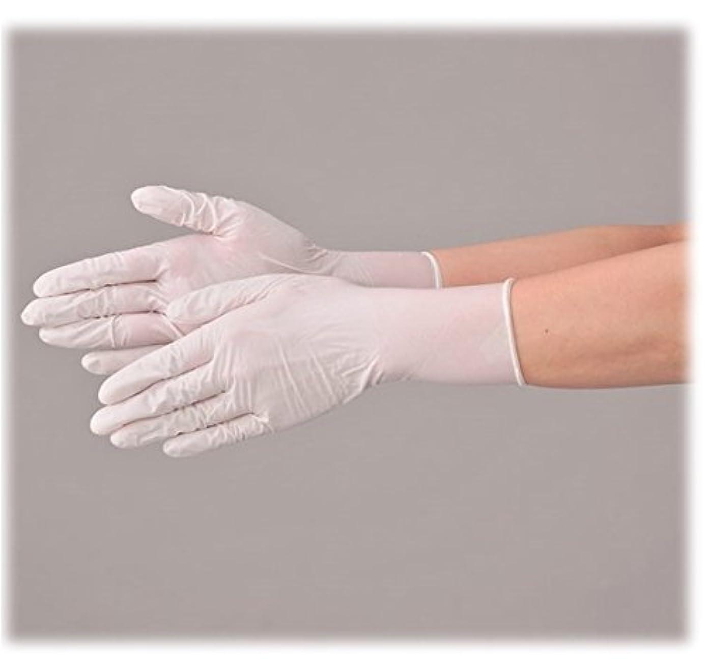 感情世界的にオープニング使い捨て 手袋 エブノ 572 ニトリルNEOプラス ホワイト Mサイズ パウダー付き 2ケース(100枚×40箱)