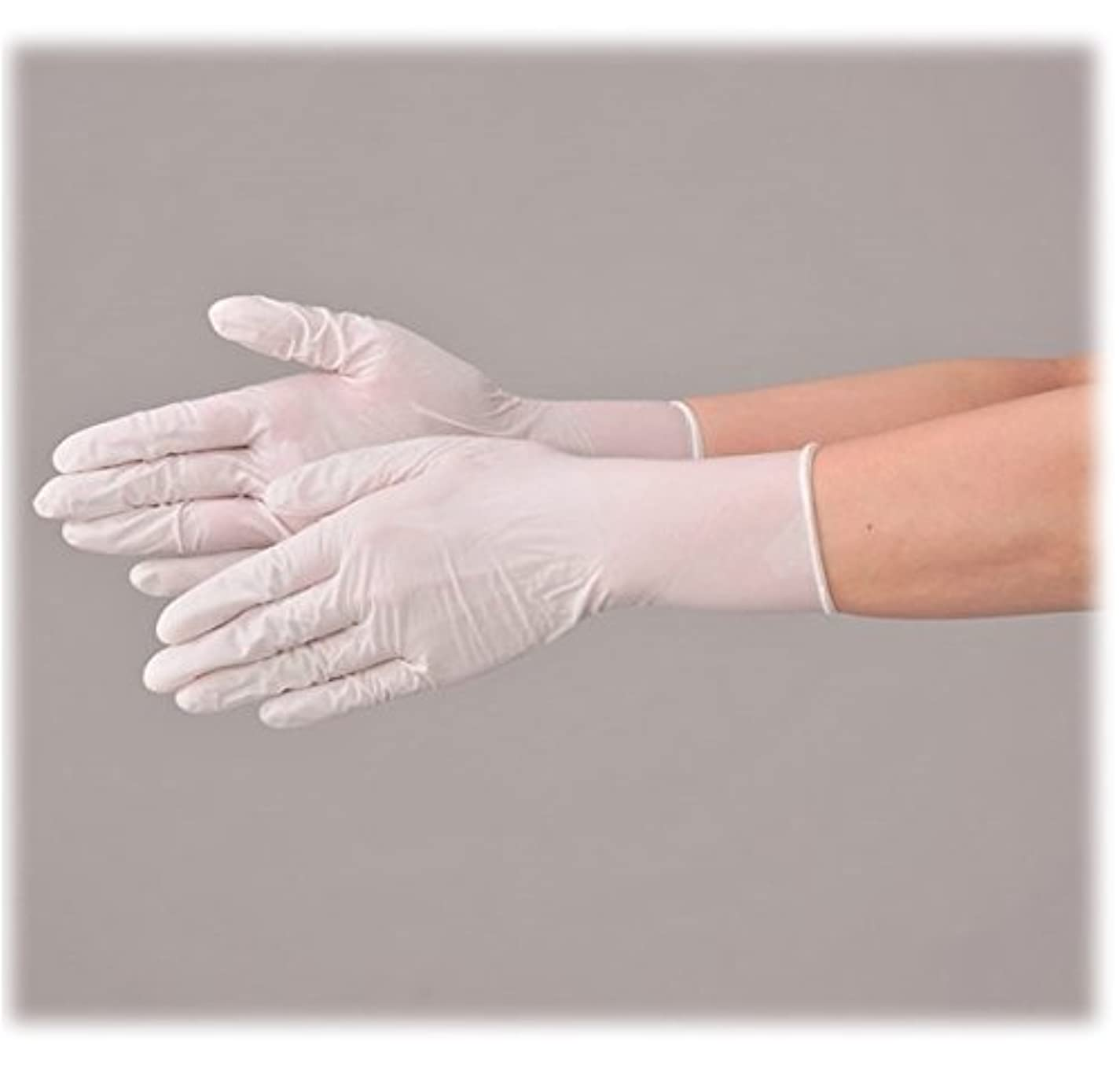 狂う透明により良い使い捨て 手袋 エブノ 510 ニトリル 極薄手袋 ホワイト Mサイズ 2ケース(100枚×40箱)