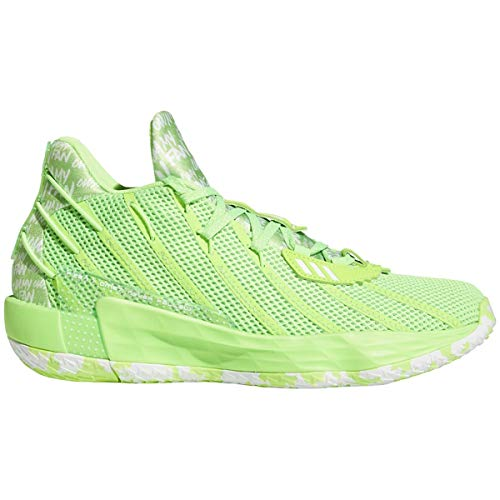 adidas Dame 7 Shoe - Unisex Basketball Solar Green/White