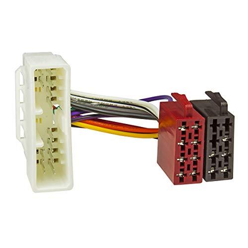 tomzz Audio 7017-001 Radio Adapter Kabel passend für Honda Accord Civic Jazz bis 1998 auf 16pol ISO Norm
