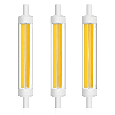 Klarlight Dimmable R7S J118 T3 Doubled Ended Bulb - 10W R7S COB LED Light Bulbs, Warm White 120W 118mm J-Type Halogen T3 RSC Base Flood Lights Replacement for Floor Lamps Speciality Lights (3-Pack)