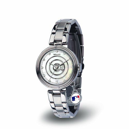 MLB Chicago Cubs Charm Watch, Silver