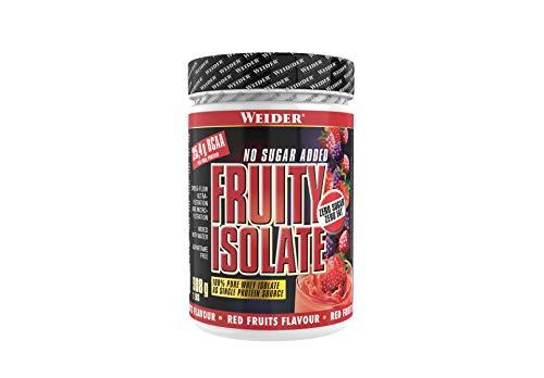 WEIDER Fruity Isolate Whey Protein, hochwertiges Molkenproteinisolat, Rote Früchte