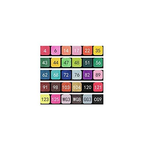 JKMQA de 30 Colores Marker Pen Marcadores Manga Creativos Rotulador Set de Rotuladores de Boceto Hecho a Mano(Arte),Día del niño,Regalo