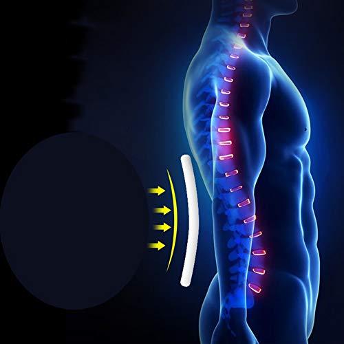 LSRRYD Back Support Belt Adjustable Neoprene Lumbar Support Belt Lower Back Lumbar Support Belt Brace For Pain Relief And Injury Prevention (Color : Black, Size : XL)