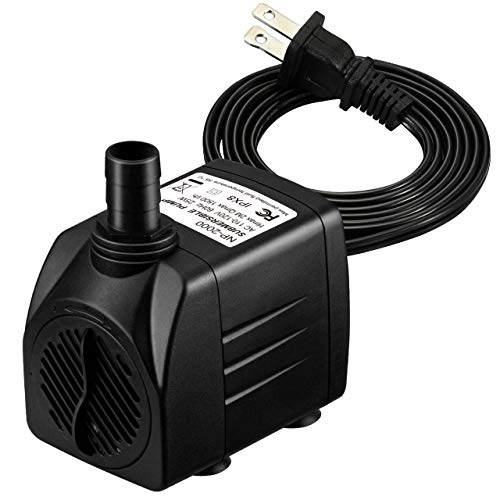 Homasy 400GPH Submersible Pump 25W Fountain Water Pump with 5.9ft Power Cord, 2...
