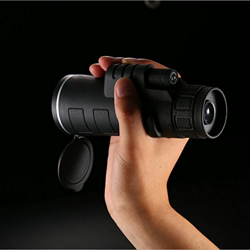 Purchase DHG 35X50 Monocular Telescope High Power Night Vision Pocket Mobile Phone Telescope Portable Stent,Black