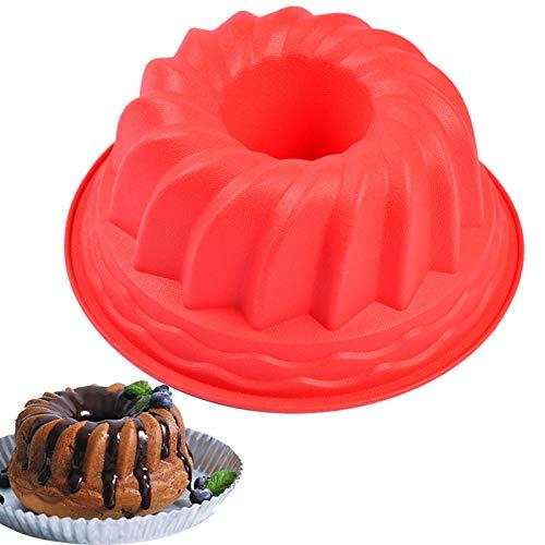 Moule à Kouglof Savarin Moule à Gâteau Anneau Boîte Mini Moule à Kouglof en Silicone Moule Traditionnel avec Revêtement Antiadhésif pour Faire de Délicieux Gâteaux, Desserts, Chocolat, Pizza, Pudding