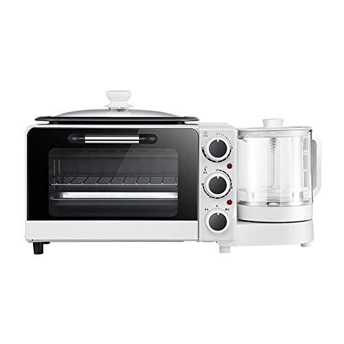 CROW Máquina de Desayuno Multifuncional, tostadora pequeña Cuatro en uno para el hogar, Horno eléctrico de sándwich para freír y cocinar al Vapor, Horno, Horno eléctrico de bajo Consumo, Horno eléct