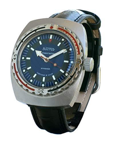 Uhr Vostok Amphibia Original Sowjetische Periode (CCCP - USSR) Serie nummeriert, selten, mit Handaufzug Made in Ussr