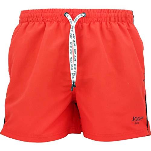 Joop! Herren Badeshorts Mikrofaser Badehose Einfarbig Orange XXL