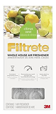 Filtrete Whole House Air Freshener for AC Furnace Air Filter, Citrus Zest