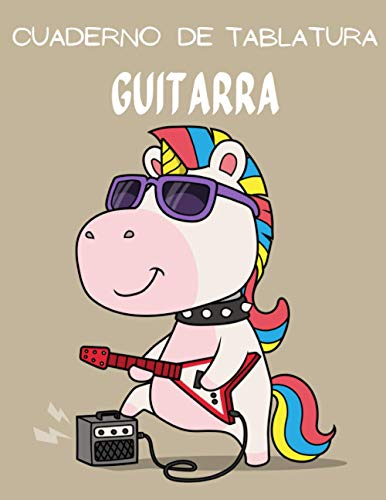 Cuaderno de Tablatura Guitarra: 110 páginas | Tamaño 8.5 x 11 Pulgadas...