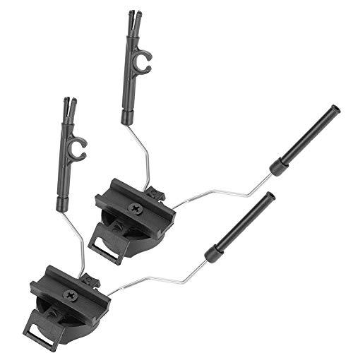 Demeras Auricolare tattico del Casco per Casco Militare-Adattatore di Montaggio Adapter Airsoft Auricolare AST Ops-Core Casco, Adatto per attività tattiche all'aperto
