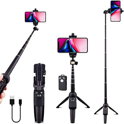 Stick selfie Inalámbrica Bluetooth extensible selfie palillo de teléfono del trípode de Monopod desmontable obturador alejado for IPhone X Xr Xs Max 6 7 8 6s Plus Samsung Galaxy S8 S9 S10 J7 Nota 9 8