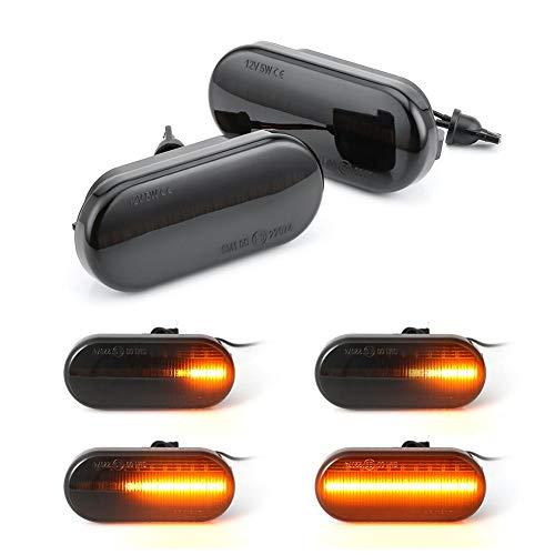 fllyingu 2 Piezas LED Luces de Marcador dinámicas Laterales Intermitente Intermitente luz secuencial para Volkswagen Bora Golf 3 4 Passat Polo SB6 3BG
