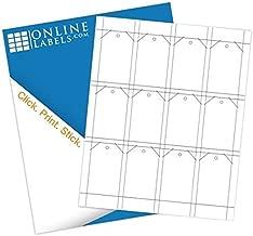 Printable Tags - 1.75 x 3 - Cardstock - Pack of 1,200, 100 Sheets - Inkjet/Laser Printer - Online Labels