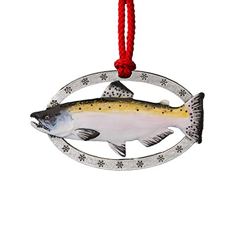 Creative Pewter Designs Chinook Salmon Hand Painted Ornament, FP040AOR