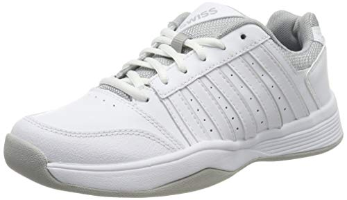 K-Swiss Performance Damen Court Smash Carpet M Tennisschuhe, Weiß (Wht/Wht/High-Rise, 5 000070594), 38 EU