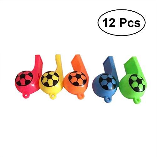 YeahiBaby Silbato Plástico Silbato Fútbol para Niños Deportes Juguete para Deportes Actividad al Aire Libre 12 Piezas