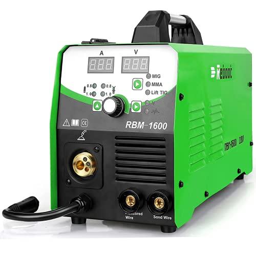 Reboot Soldadora 160 A 230 V IGBT 1 kg/5 kg de gas/sin gas MIG/ARC/LIFT WIG 4 en 1, alambre sólido, MIG MMA MAG, máquina de soldadura inversa MIG