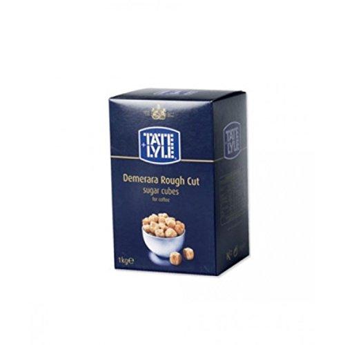 Tate & Lyle Rough Cut Brown Sugar Cubes - 1kg Box