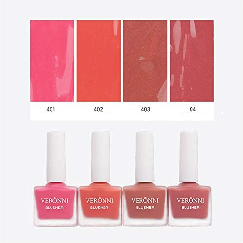 VERONNI Fruit Juice Liquid Blusher,Vegan Face Blush Waterproof Long Lasting Blushes,Cruelty-Free for a Shimmery Finish (#404)