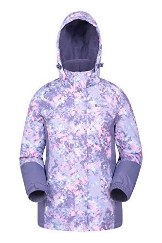 Mountain Warehouse Chaqueta de esquí Dawn para Mujer - A Prueba de Nieve, Abrigo de esquí con Forro Polar, puños, Dobladillo y Capucha Ajustables, Invierno Azul Claro 42