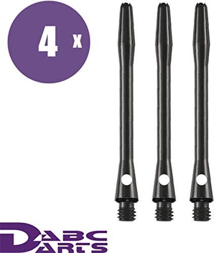 ABC Darts - Aluminum Dart Schäfte Set mit O-Ringe - Medium Schwarz - 4 sätz Dart Shafts