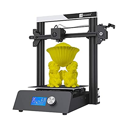 JG MAKER 3D Printer Black Metal Gantry Frame Mini Sized Design Industrial DIY 3D Printer Build Area 220X220X250(mm) Support PLA ABS Wood 1.75mm Filament Resume Desktop 3D Printer