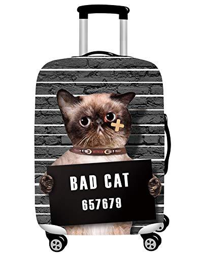 MISSMAO_FASHION2019 Elastisch Kofferhülle Kofferschutzhülle Gepäck Cover Reisekoffer Hülle Kofferschutz mit Reißverschluss Katze Serie Style5 L(Fit 26-28...