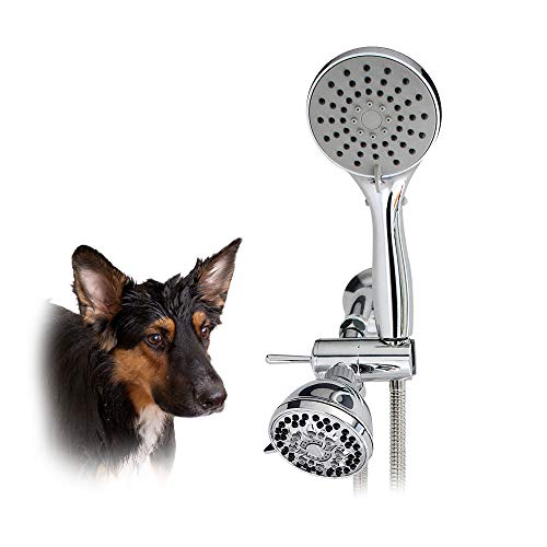 SmarterFresh Pet Shower Sprayer Set, Complete Pet Wash Hand Held Shower Attachment for Home Dog Washing Station