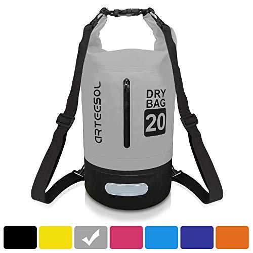 Arteesol Dry Bag, waterdichte draagzak, inclusief, verstelbare schouderriem, geschikt voor kajakken, boten, kanoën, vissen, raften, zwemmen, kamperen, snowboarden