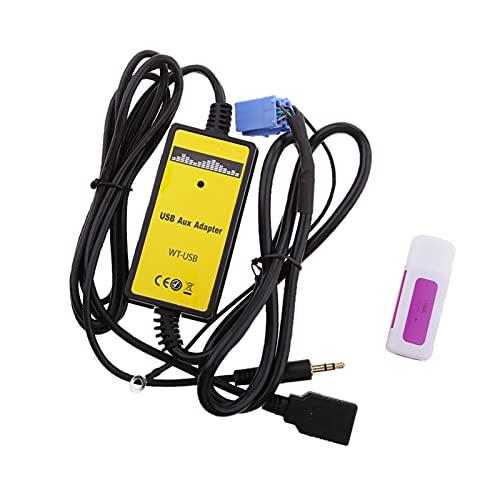 Qinndhto Coche MP3 Radio del Jugador USB AUX-IN Adaptador Apto para VW Skoda del Asiento de Golf de Sharan Adaptadores
