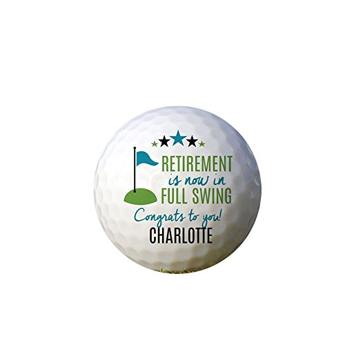 GiftsForYouNow Congrats Retirement Personalized Golf Ball Set