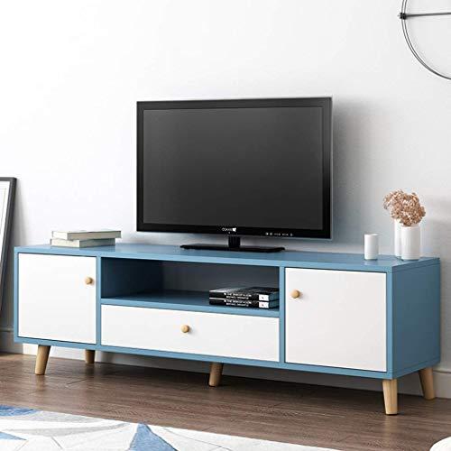 Meuble TV à profil bas Console multimédia Supports de télévision polyvalents avec tiroirs Armoire multimédia TV Console de rangement Centre de divertissement Consoles de jeu Table basse Table de cana