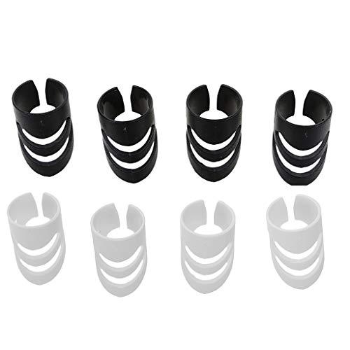 8Stück Gitarren Fingertips Fingerspitzen Fingerpick Fingerschutz Protect Finger Plektre (L)
