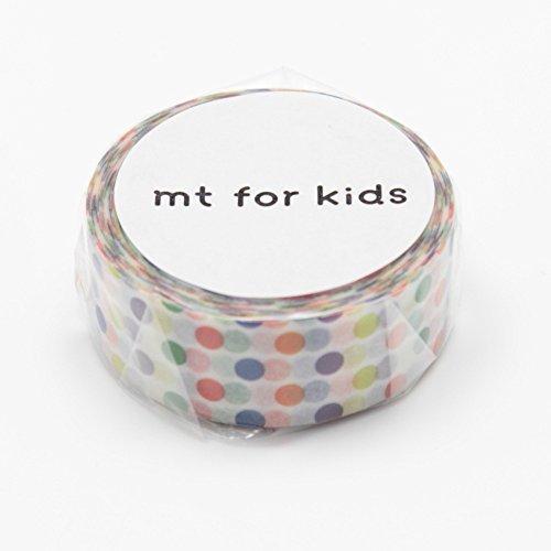 MT Japanese Washi tape, Kids mini roll Dots Rainbow (MT01KID002)