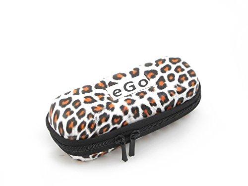 Hannets® Zipper Etui Leopard weiß/braun small für e-Zigaretten eGo-T / eGo-C / eGo-W / 510 / 510-T