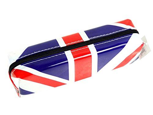 Stijlvolle, moderne Union Jack Pencil Case, Collectible Koninklijke Vlag van Engeland Souvenir! School klas Student Zip Souvenir / Speicher / Memoria! Opvallend, leuk Union Jack / Britse vlag Collectible, draagbare etui! Een onvergetelijke London Souvenir! Nieuwe, Collectible Pencil Case! Trousse / Mäppchen / Astuccio / Estuche