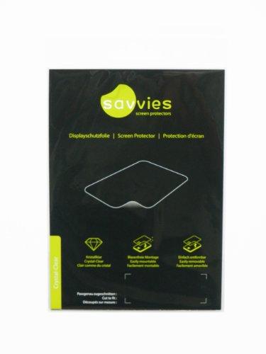 Savvies Crystalclear Schutzfolie passgenau für Parrot Asteroid Tablet (pass- und konturgenau, kristallklar, rückstandsfrei entfernbar)