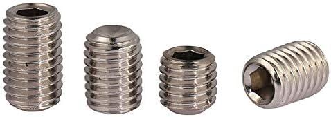 Din916 304 Roestvrij staal concave einde gezicht Zeshoek Socket Set Machine Schroef Headless Schroef Jackscrew m16m6 50 Stks 20mm M25
