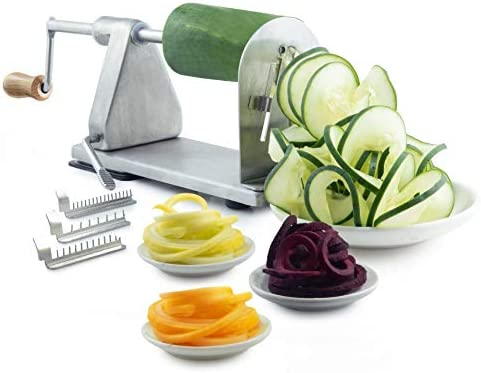 POP Stainless Steel Vegetable Spiralizer Spiral Vegetable and Potato Cutter Includes 3 Blade product image