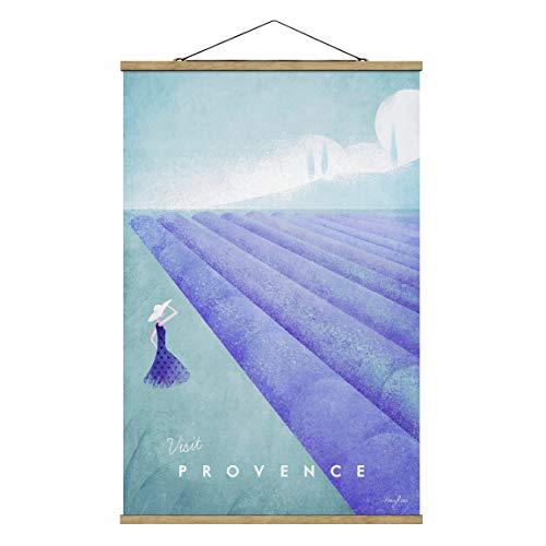 Bilderwelten Imagen de Tela - Travel Poster - Provence, 150cm x 100cm, Roble