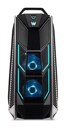 Predator Orion 9000 (PO9-600) Gaming Desktop-PC (Intel Core i9-9900K, 16 GB RAM, 1024 GB SSD, NVIDIA GeForce RTX 2080 Ti (11 GB GDDR6), Windows 10 Home) schwarz/blau