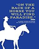 A Horse Lovers Notebook: